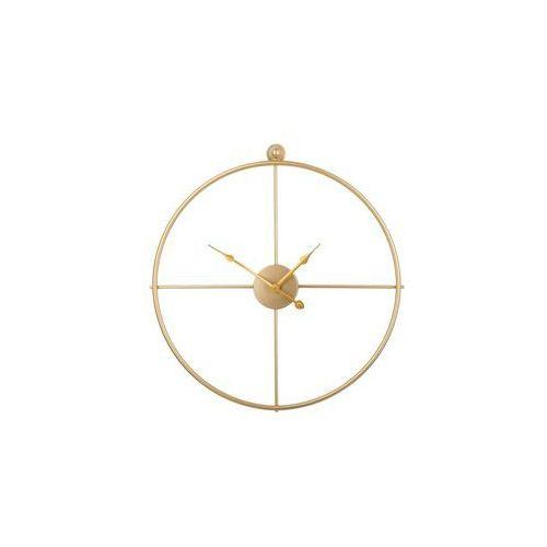 Beliani Zegar ścienny złoty zuchwil