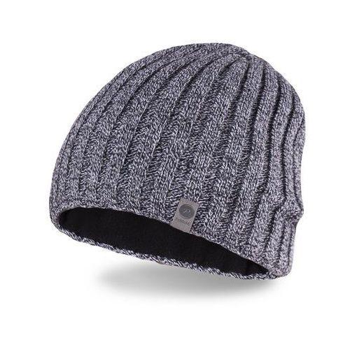 Zimowa czapka męska - jasnoszara mulina - jasnoszara mulina marki Pamami