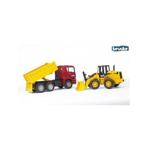 Bruder MAN TGA Construction truck and articulated road loader FR 130