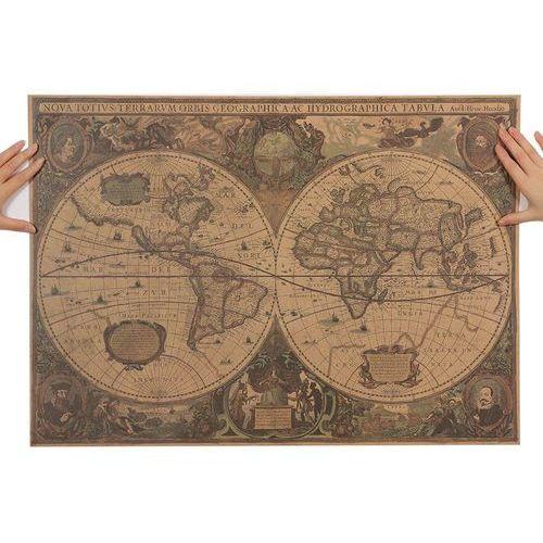 Obraz Mapa świata retro HONDIUS Hendrik Totius Terrarum Orbis Geographica ac Hydrographica Tabula