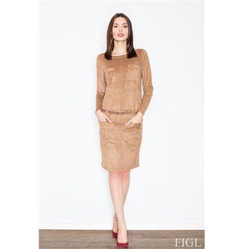Sukienka model m452 brown, Figl