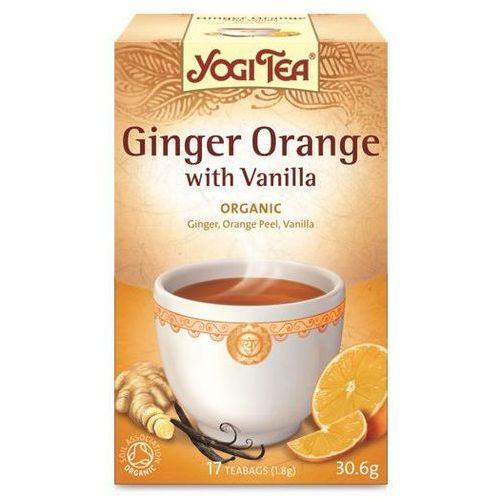 Herbata imbir pomarańcza wanilia bio (yogi tea) 17 saszetek po 1,8g marki Yogi tea, usa