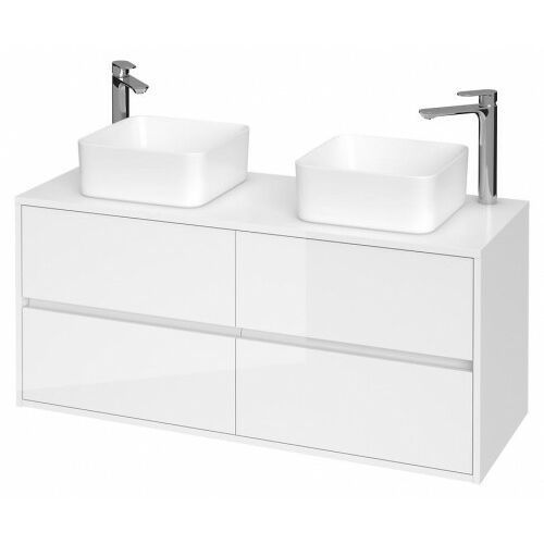 CERSANIT szafka Crea 120 biały połysk pod 2 umywalki nablatowe S931-002 (5902115781131)