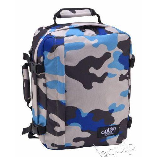 Cabinzero Plecak torba podręczna mini + pokrowiec organizer gratis - blue camo
