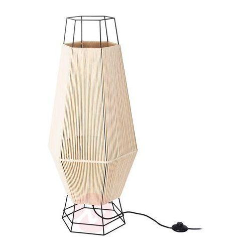 Sześciokątna lampa stojąca Legato, beżowa (8435381463960)