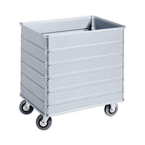 Zarges Aluminiowy wózek skrzyniowy, poj. 230 l, z profilem krawędzi i podłogi. odporne