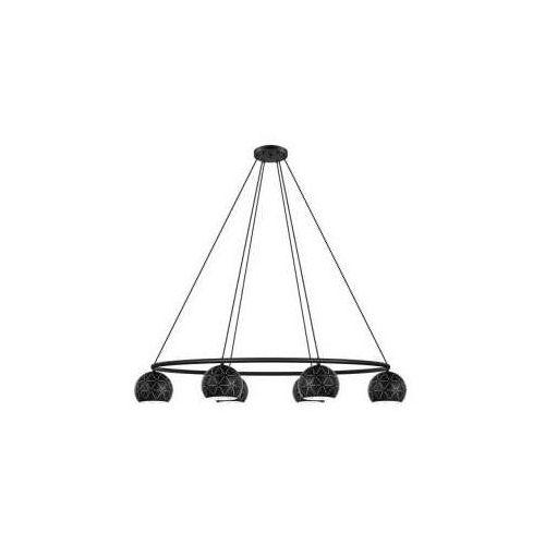 Eglo Cantallops 98456 lampa wisząca zwis oprawa 6x40W E14 czarna (9002759984564)