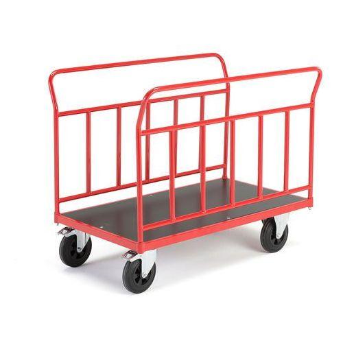 Wózek platformowy o kołach z pełnej gumy o śr160mm marki Aj