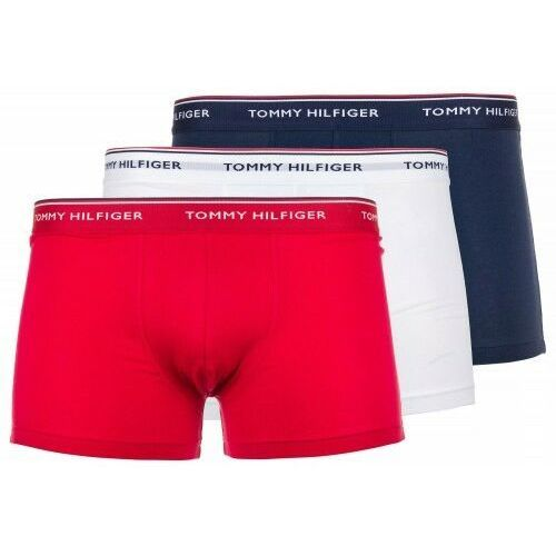 Bokserki Underwear Tommy Hilfiger 3-Pack Białe Granatowe Czerwone, EA8B-51293