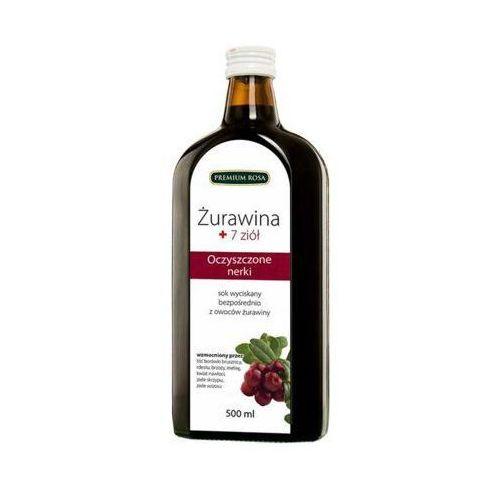 500ml sok 100% żurawina + 7 ziół tłoczony na zimno marki Premium rosa