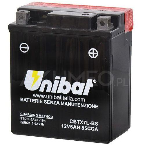 Akumulator agm cbtx7l-bs 12v 6ah 85a prawy+ marki Unibat