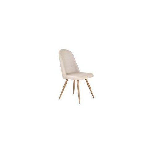 K214 krzesło ciemny kremowy / dąb miodowy (2010001150428)