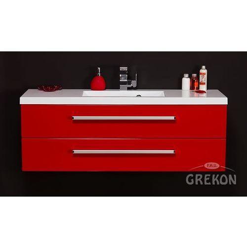 Czerwona szafka wisząca z umywalką 120/39/s2c seria fokus cz marki Gante