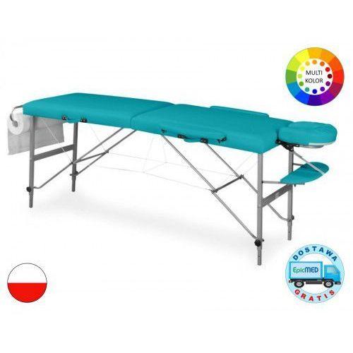 Składany stół do masażu doplo lm3 aluminiowy z regulacją wysokości marki Juventas