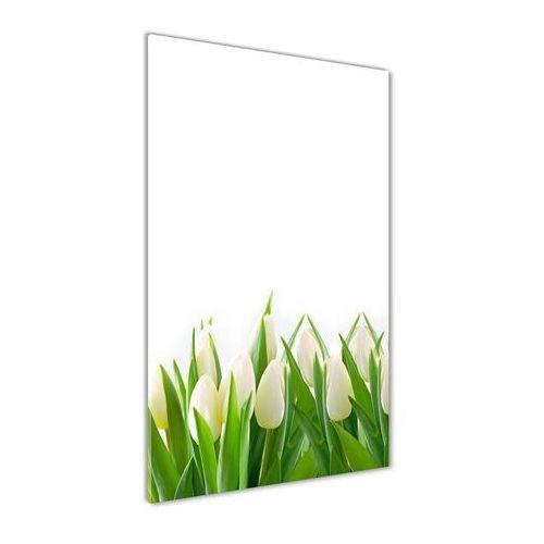 Wallmuralia.pl Foto obraz akryl do salonu białe tulipany