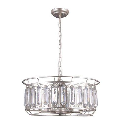 Italux Priscilla PND-43388-6B Lampa wisząca zwis 6x40W E14 srebrny szampański, PND-43388-6B