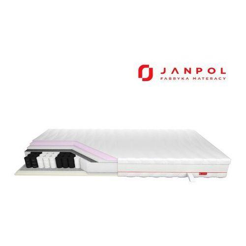 Janpol enyo - materac kieszeniowy, sprężynowy, pokrowiec - tencel, rozmiar - 180x190 najlepsza cena, darmowa dostawa