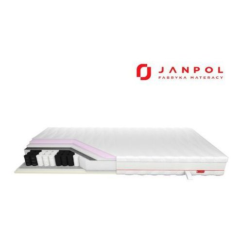 Janpol enyo - materac kieszeniowy, sprężynowy, rozmiar - 90x200, pokrowiec - tencel wyprzedaż, wysyłka gratis