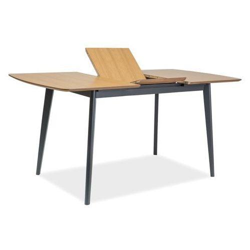 Stół rozkładany Signal Loft - VITRO II - Dąb grafit - 120(160)X80 cm