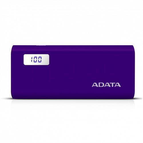 Adata power bank p12500d 12500mah purpurowy 2.1a (4713218463739)