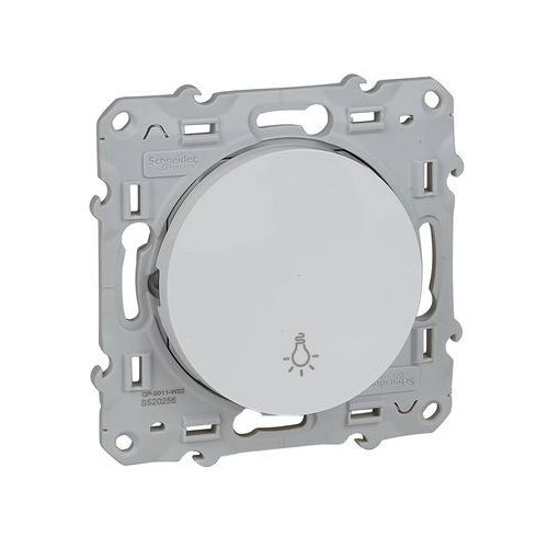 """Przycisk podtynkowy """"światło"""" Schneider Odace S520256 biały"""