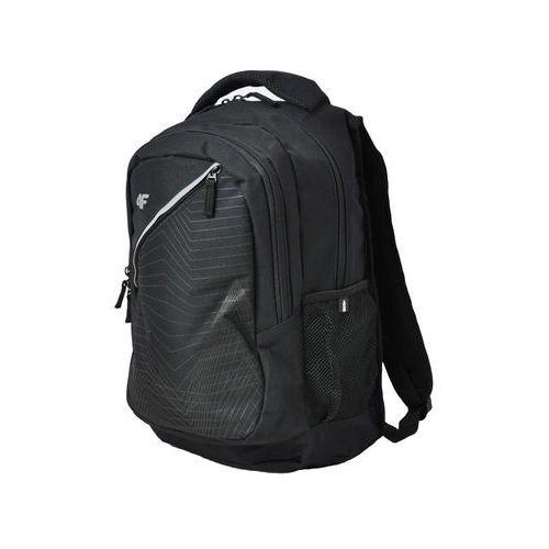 4f Plecak sportowy pcu004  - czarny - czarny, kategoria: plecaki turystyczne i sportowe