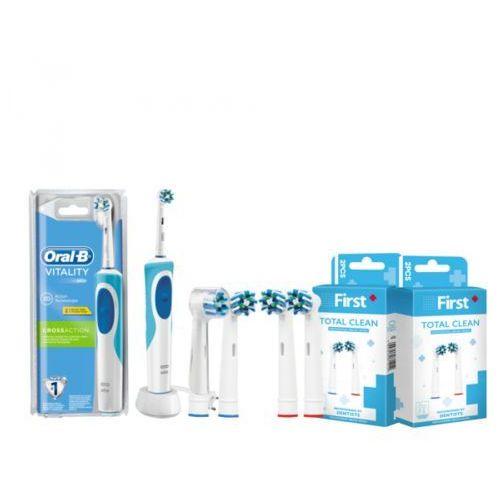 5 końcówek w zestawie: braun vitality szczoteczka cross action elektryczna d12.513 marki Oral-b