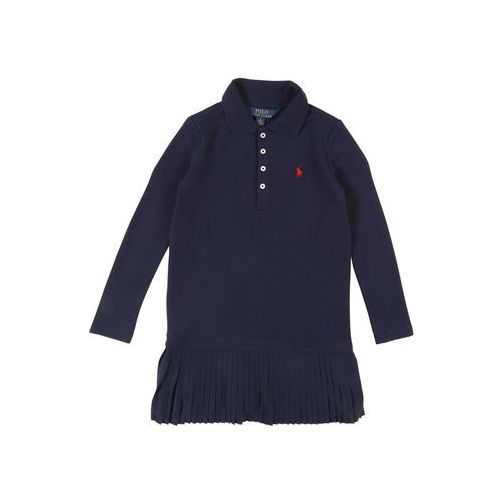 POLO RALPH LAUREN Sukienka 'STRETCH MESH-PLEAT POLO D-DR-KNT' granatowy, kolor niebieski