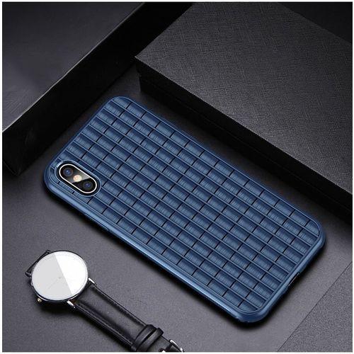 Ipaky waffle elastyczne etui pokrowiec iphone xs max niebieski (6933345225064)