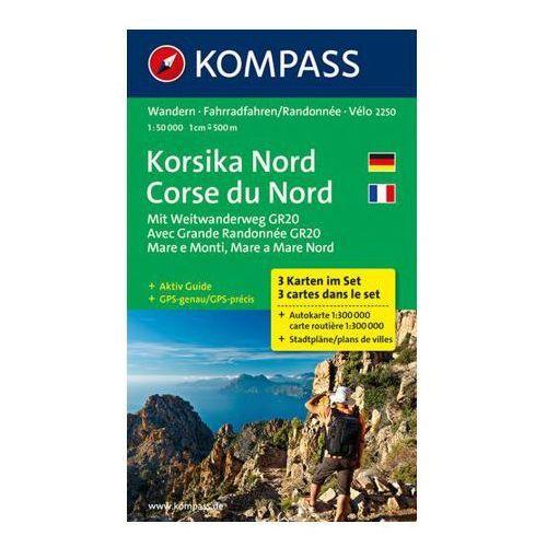 Kompass Karte Korsika Nord, 3 Bl.. Corse du Nord, praca zbiorowa