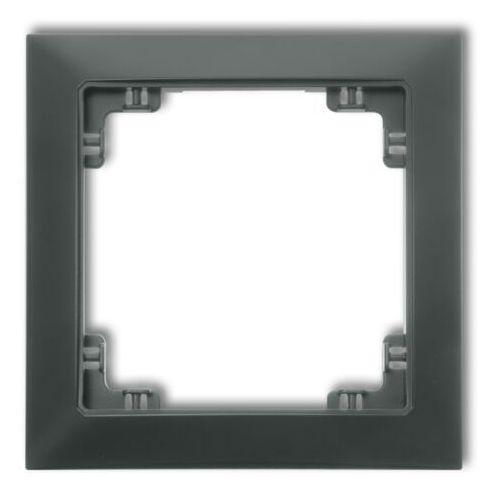 DECO Ramka uniwersalna pojedyncza z tworzywa DECO Soft biały mat 25DRSO-1 (5901832009139)