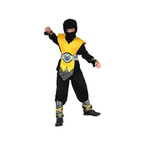 Kostium Ninja żółty lux - S - 110/120 cm (5901238671541)