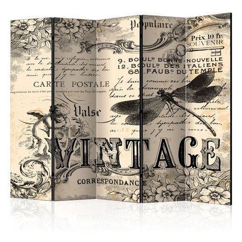 Parawan 5-częściowy - Vintage Correspondence II [Room Dividers]