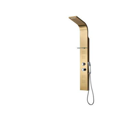 Shower design Termostatyczna kolumna prysznicowa z hydromasażem josta – kolor złoty – 45 × 150 cm