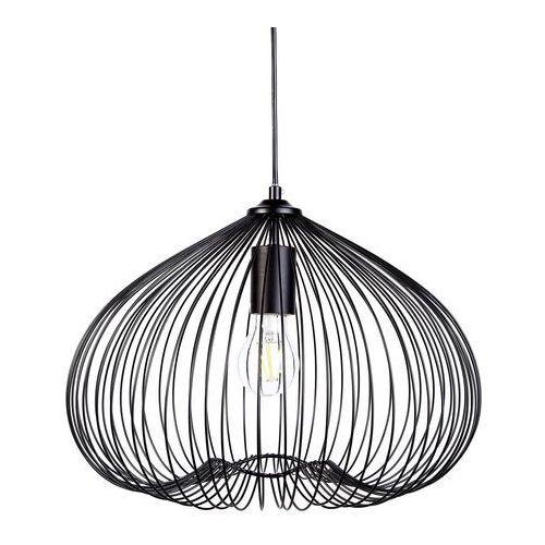 Lampa wisząca czarna metal TORDINO, kolor Czarny