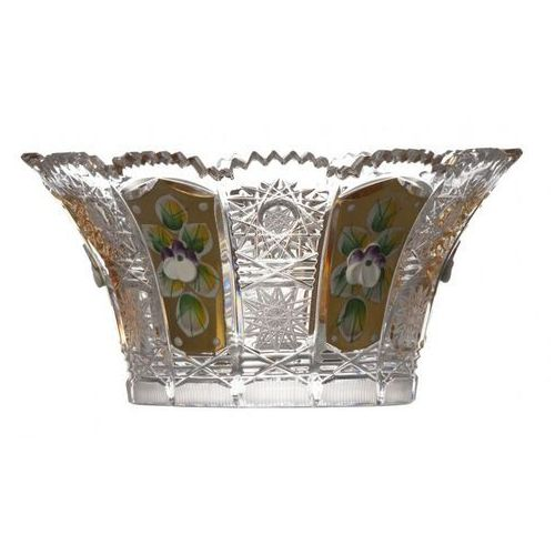 Caesar crystal 159721 półmisek 500k złoto v, szkło kryształowe bezbarwne, średnica 155 mm