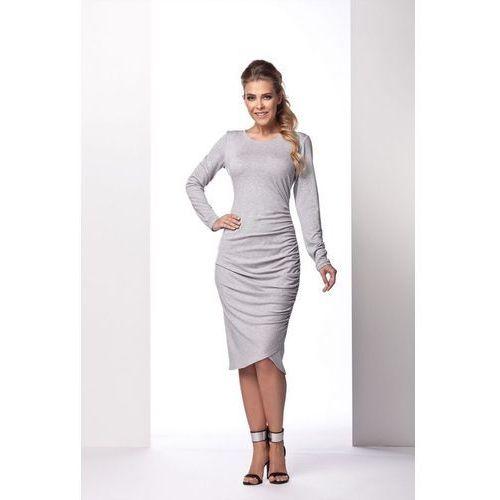 L102 jasnoszary sukienka