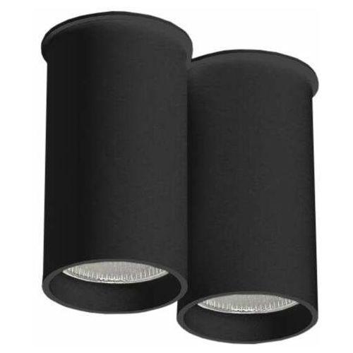 Downlight LAMPA sufitowa ARIDA 1112 Shilo natynkowa OPRAWA reflektorowa do łazienki tuby czarne (5903689911122)