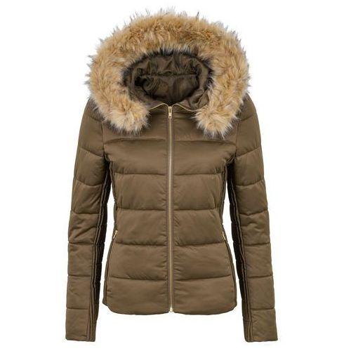 Lekka kurtka pikowana z kapturem ciemnoliwkowy marki Bonprix