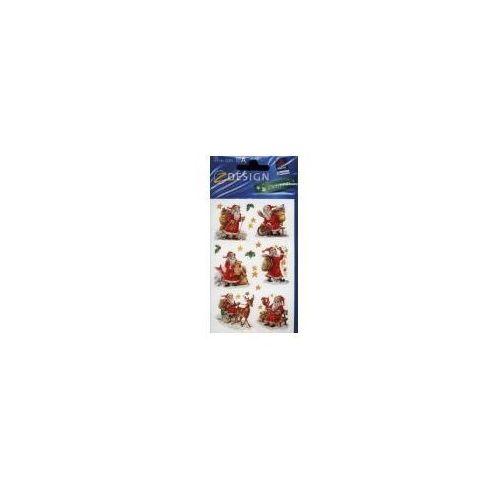 Naklejki świateczne błyszczące Mikołaje, 52402 SWI