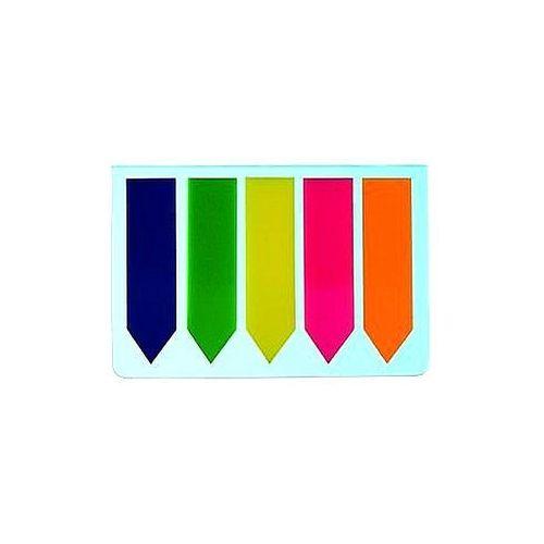 Zakładki indeksujące 45x12mm strzałka  folia pet 5 kolorów x 25 sztuk marki Datura