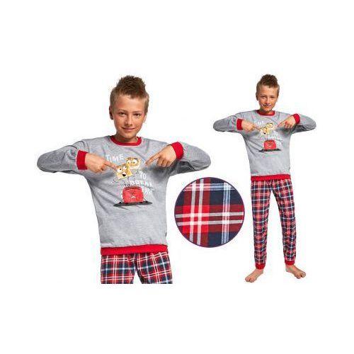 Piżama dziecięca DENIS: szary/czerwony, kolor czerwony