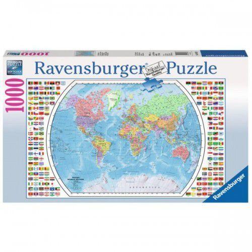 RAVEN. 1000 EL. Mapa polityczna świata - Ravensburger. DARMOWA DOSTAWA DO KIOSKU RUCHU OD 24,99ZŁ (4005556196333)
