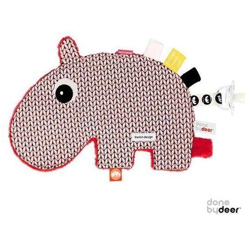 DONE BY DEER Przytulanka z metkami - Różowy hipopotam