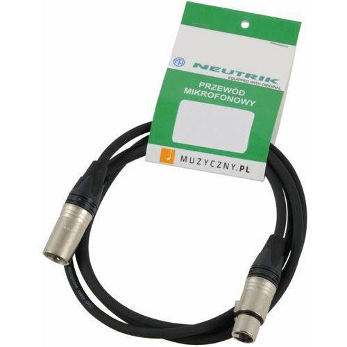Klotz MIC PRO 1m przewód mikrofonowy XLR-F - XLR-M, Neutrik, MY206, z opaską