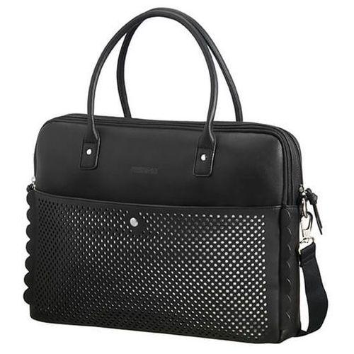 "luna pop damska torebka na ramię na laptopa 15,6"" / czarna - black/silver marki American tourister"