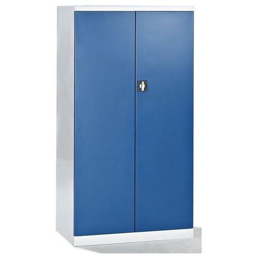 Szafa na narzędzia, pusta obudowa, wewn. strony drzwi z perforacją, drzwi niebie marki Mba-system