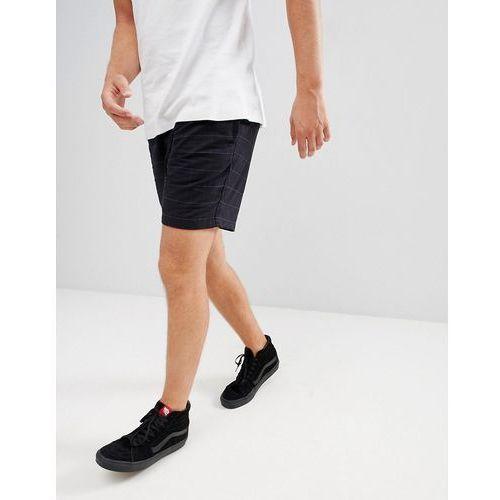 check shorts in black with drawstring - black, Pull&bear
