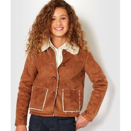 Płaszcz ze sztucznej skóry z futerkiem 10-16 lat - produkt z kategorii- Płaszcze dla dzieci