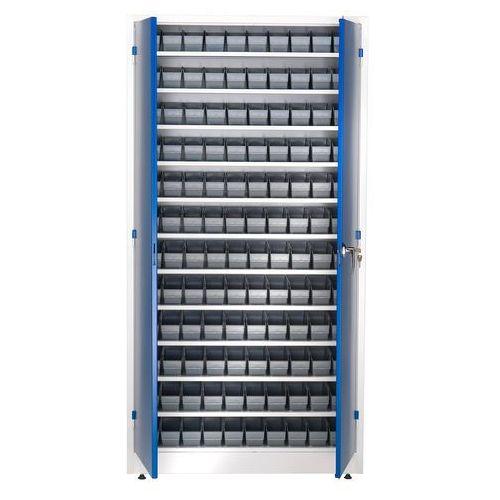 Szafa warsztatowa z pojemnikami, 120 pojemników, 1900x1000x400 mm